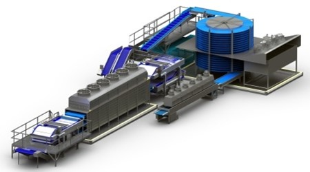 spiral freezer contact freezer and IQF Tunnel for seafood